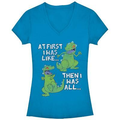Women's: Rugrats- Then And Now V-Neck