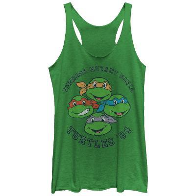 Juniors Tank Top: Teenage Mutant Ninja Turtles- Heroes Since 84 Scoop Neck