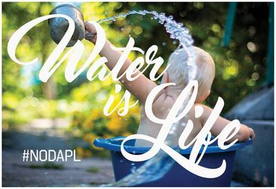 Water Is Life - Landscape Baby With The Bathwater