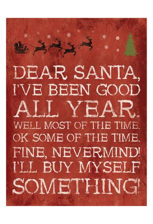 Dear Santa Nevermind Red