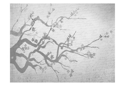 Cherry Blossom Branch in Silver