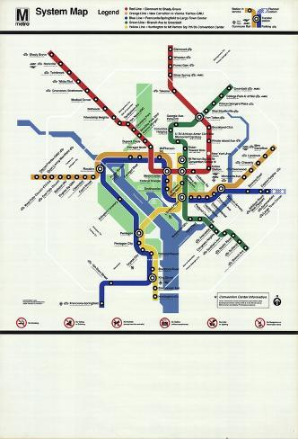 Washinton Dc Metro Map.Washington D C Subway Map Serigraph By Unknown At Allposters Com