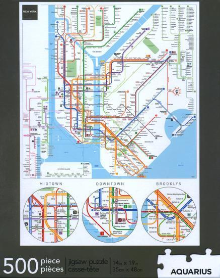 Aquarius Puzzles Subway Map.New York Subway 500 Piece Puzzle
