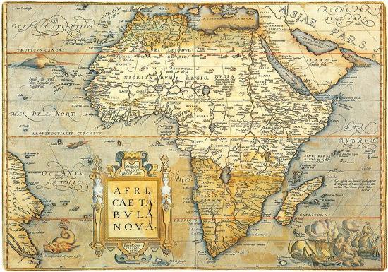 Africae Ta Bula Nova Antique Map Of Africa Prints At Allposters Com