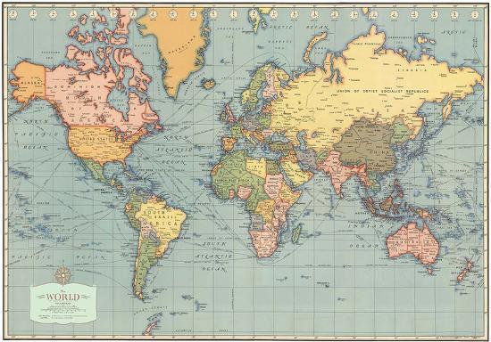 Modern Map Of The World.Mondo Moderno Modern World World Map