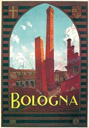 Bologna- Vintage Travel Poster
