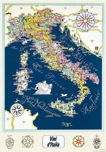 Italian Wine Regions Map Photo At Allposters Com