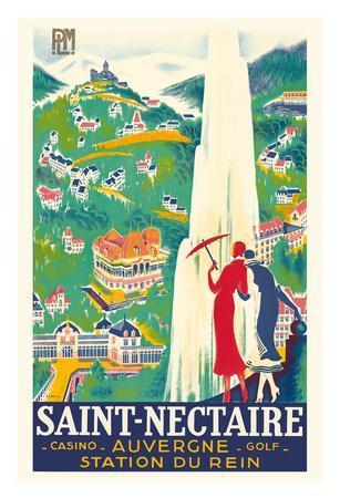 Saint-Nectaire - Auvergne, France - Casino, Golf - Station du Rein - PLM French Railroad