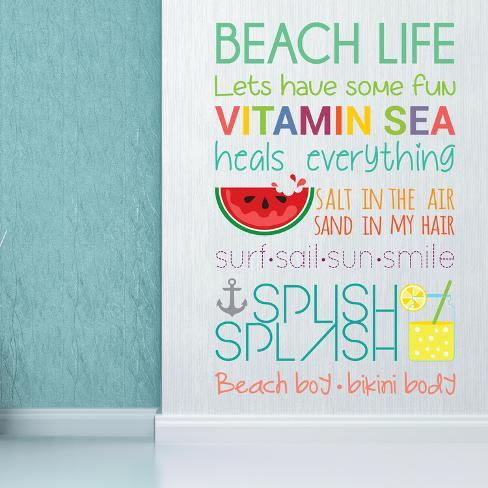 Beach Quotes Wall Decal At Allposters Com