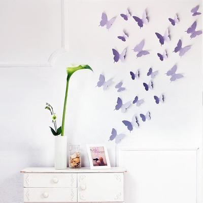 3D Butterflies - Lavender