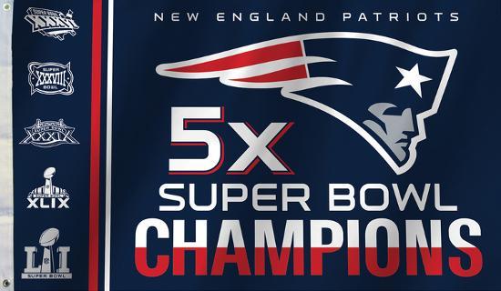 the latest 7bcc7 c1ae2 NFL New England Patriots 5x Super Bowl Champions Flag