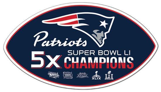 on sale ffad1 97d02 NFL New England Patriots 5x Super Bowl Champions Vinyl Magnet
