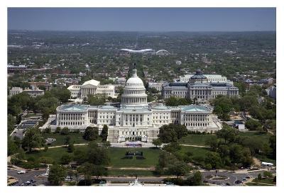 Aerial view, United States Capitol building, Washington, D.C.