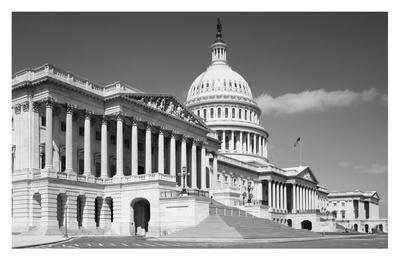 U.S. Capitol, Washington, D.C. - B&W