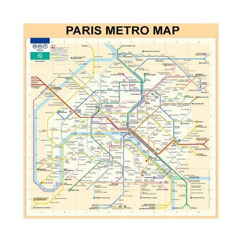 picture regarding Printable Maps of Paris called Paris Metro Map - Peach