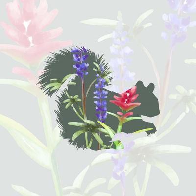Green Floral Squirrel