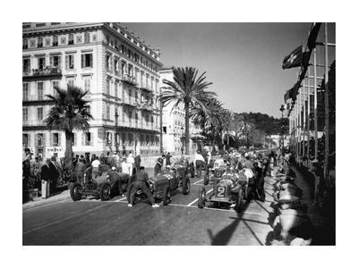 Depart du Grand Prix automobile de Nice 1934