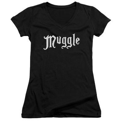 Juniors: Harry Potter- Muggle Badge V-Neck