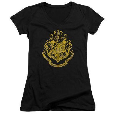 Juniors: Harry Potter- Hogwarts Crest V-Neck