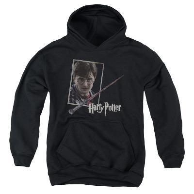 Youth Hoodie: Harry Potter- Wand And Portrait