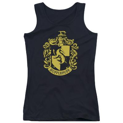Juniors Tank Top: Harry Potter- Hufflepuff Crest