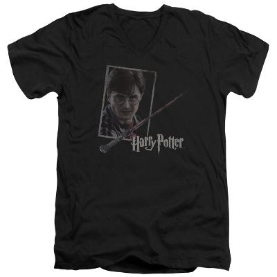 Harry Potter- Wand And Portrait V-Neck