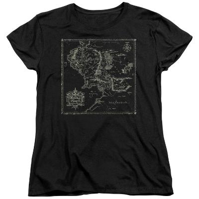 Womens: Lord Of The Rings- Middle Earth Map
