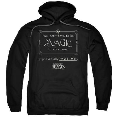 Hoodie: Fantastic Beasts- Magic To Work Here