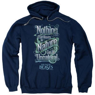 Hoodie: Fantastic Beasts- Nothing In Nature Is Unnatural