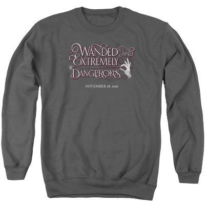 Crewneck Sweatshirt: Fantastic Beasts- Wanded And Dangerous Chirography