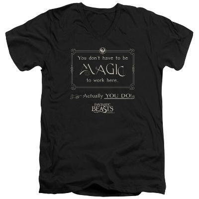 Fantastic Beasts- Magic To Work Here V-Neck