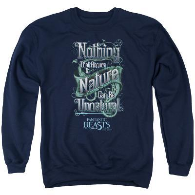 Crewneck Sweatshirt: Fantastic Beasts- Nothing In Nature Is Unnatural