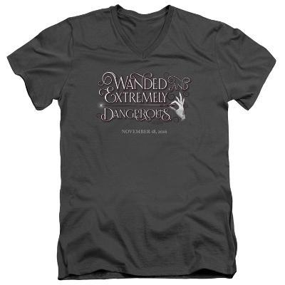 Fantastic Beasts- Wanded And Dangerous Chirography V-Neck