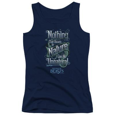 Juniors Tank Top: Fantastic Beasts- Nothing In Nature Is Unnatural