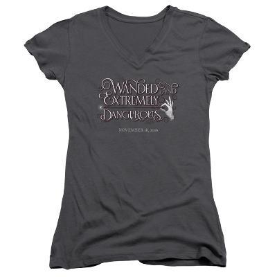 Juniors: Fantastic Beasts- Wanded And Dangerous Chirography V-Neck
