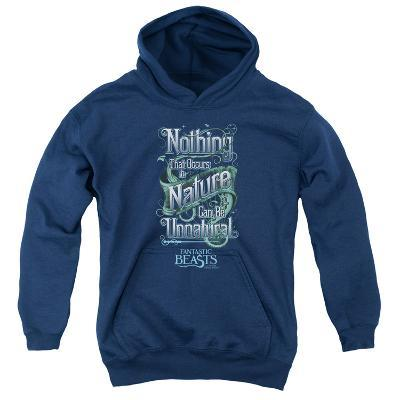 Youth Hoodie: Fantastic Beasts- Nothing In Nature Is Unnatural