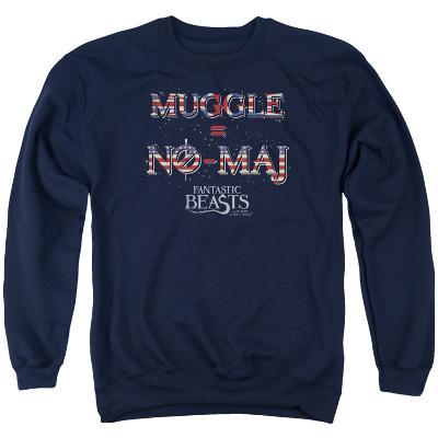 Crewneck Sweatshirt: Fantastic Beasts- Muggle = No Maj