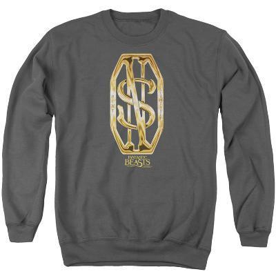 Crewneck Sweatshirt: Fantastic Beasts- Scamander Golden Monogram