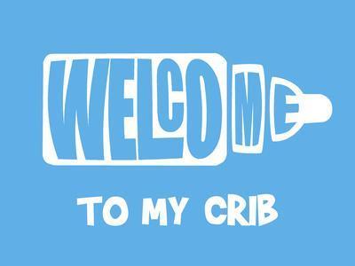Welcome Crib Blue
