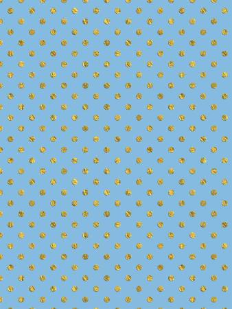 Blue Gold Glitter Pattern Dots