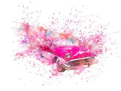 Retro Car Color Splash