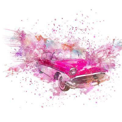 Retro Car Color Splash - Square