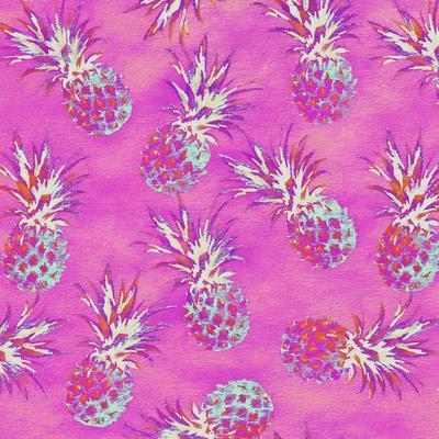 Pineapple Pink Pattern - Square