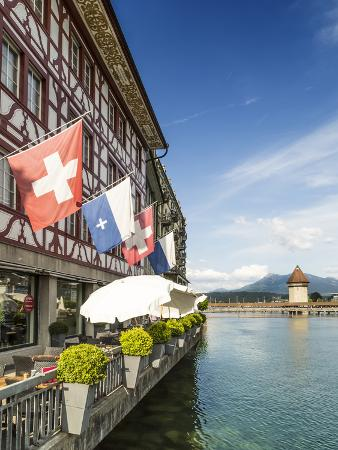 Lucerne Switzerland Reuss Riverside