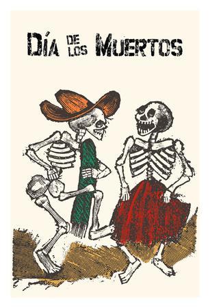 Mexico - Dia de los Muertos (Day of the Dead) - Dancing Skeletons