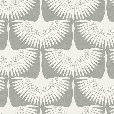 Feather Flock Chalk Self-Adhesive Wallpaper