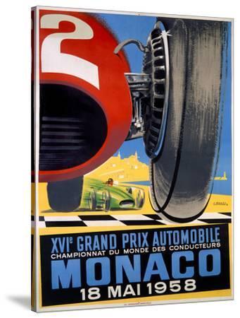 1958 Monaco Grand Prix F1 Poster