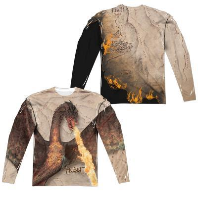 Long Sleeve: The Hobbit: The Battle Of The Five Armies- Smaug Attack (Front/Back)