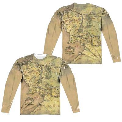 Long Sleeve: Lor- Middle Earth Map (Front/Back)