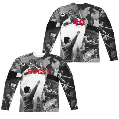 Long Sleeve: Rocky- 40TH Anniversay Collage (Front/Back)